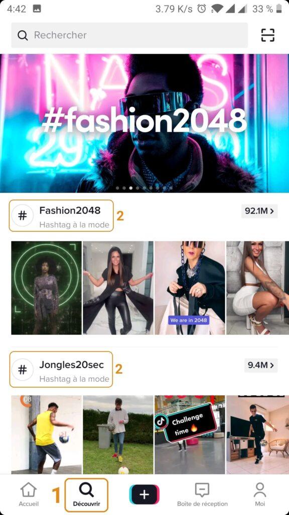 Hashtag à la mode - Tiktok